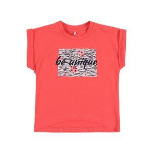 NAME IT Tričko 'NBFJALIN'  korálová / černá / růžová