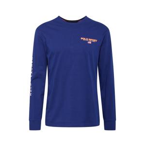 POLO RALPH LAUREN Tričko  královská modrá / tmavě oranžová / bílá