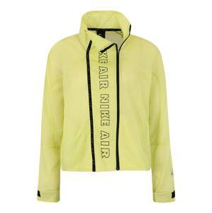 NIKE Sportovní bunda  svítivě žlutá / černá