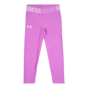 UNDER ARMOUR Sportovní kalhoty  fialová / bílá