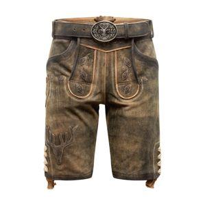Krüger Buam Krojové kalhoty  hnědá