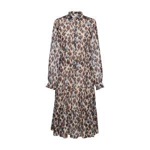 ICHI Košilové šaty 'IXLIA'  černá / béžová