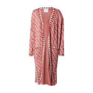 DELICATELOVE Pletený kabátek 'Ida Big X'  růžová / světlemodrá