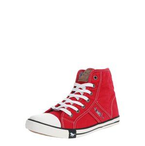 MUSTANG Kotníkové tenisky  bílá / červená