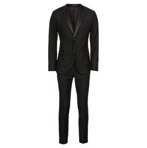 Pier One Oblek 'Poly-Viscose Smoking'  černá