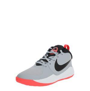 NIKE Sportovní boty 'Team Hustle D9'  červená / šedá