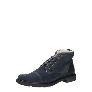 BULLBOXER Šněrovací boty  tmavě šedá / námořnická modř