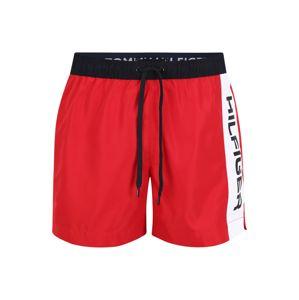 Tommy Hilfiger Underwear Plavecké šortky  krvavě červená / bílá / černá