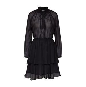 NA-KD Koktejlové šaty 'High Neck Frill Layer Dress'  černá