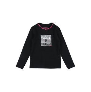 BLUE SEVEN Tričko  černá / bílá / pink