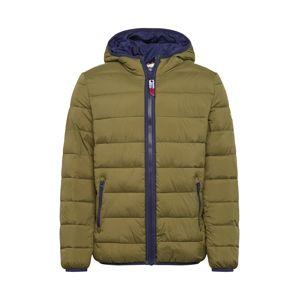 Tommy Jeans Zimní bunda  tmavě modrá / khaki