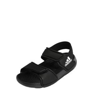 ADIDAS PERFORMANCE Plážová/koupací obuv  černá / bílá