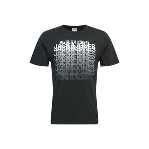 JACK & JONES Tričko 'CLUB'  černá / bílá / šedá