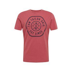 TOM TAILOR Tričko  pastelově červená