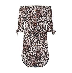 Mela London Letní šaty  béžová / hnědá / černá