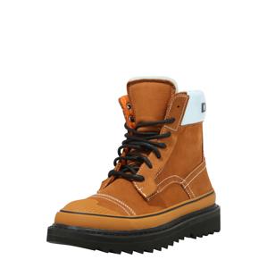 DIESEL Šněrovací boty  hnědá