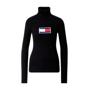 Tommy Jeans Svetr  černá / bílá / ohnivá červená / námořnická modř