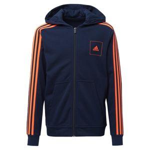 ADIDAS PERFORMANCE Sportovní mikina  noční modrá / svítivě oranžová