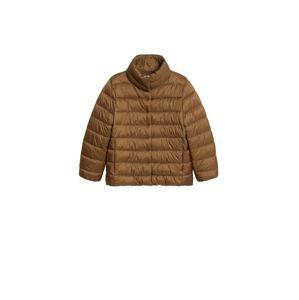 MANGO Zimní bunda  karamelová
