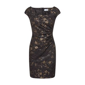 Carolina Cavour Šaty 'Flower print dress'  zlatá / černá