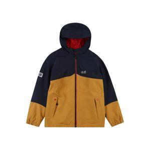 JACK WOLFSKIN Outdoorová bunda 'ICELAND'  hořčicová / noční modrá