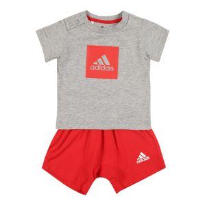 ADIDAS PERFORMANCE Sportovní oblečení 'I LOGO SUM SET'  šedá / červená