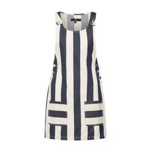 Missguided Laclová sukně  námořnická modř / perlově bílá