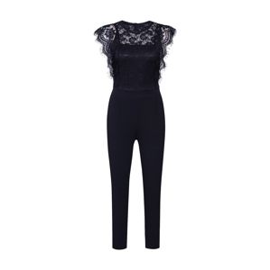 Mela London Overal 'DELICATE LACE SHOULDER  JUMPSUIT'  černá