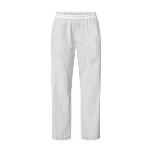 Calvin Klein Underwear Pyžamové kalhoty  bílá / šedá