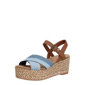 TOMS Páskové sandály 'WILLOW'  hnědá / námořnická modř
