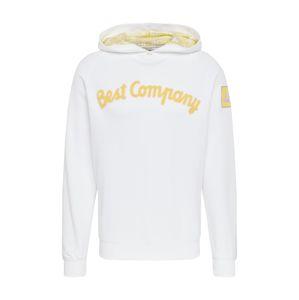 Best Company Mikina 'HOODIE CLASSIC'  žlutá / bílá