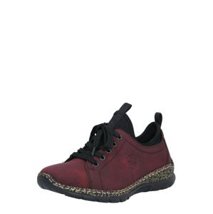 RIEKER Sportovní šněrovací boty  bordó / černá