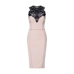 Lipsy Pouzdrové šaty  černá / béžová