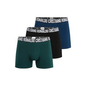 CR7 - Cristiano Ronaldo Boxerky  černá / zelená / nebeská modř