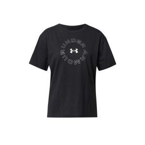 UNDER ARMOUR Funkční tričko 'Live Fashion'  černá / bílá
