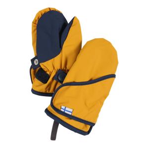 FINKID Rukavice 'Lapanen'  námořnická modř / zlatě žlutá