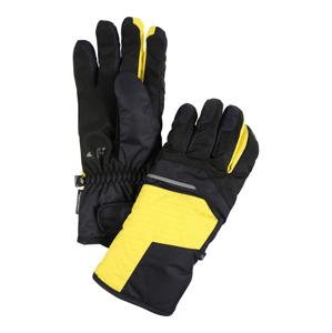 4F Sportovní rukavice  antracitová / žlutá