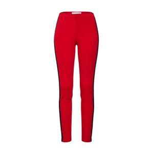 OUI Kalhoty  červená třešeň / černá / bílá