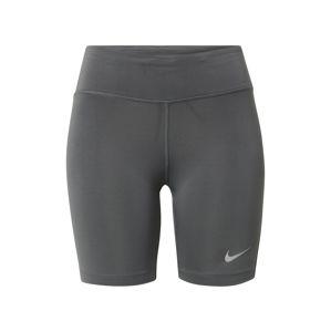 NIKE Sportovní kalhoty 'FAST'  šedá / bílá