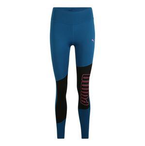 PUMA Sportovní kalhoty 'Favourite Logo'  modrá / černá / pink