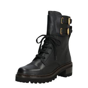 See by Chloé Šněrovací boty  černá