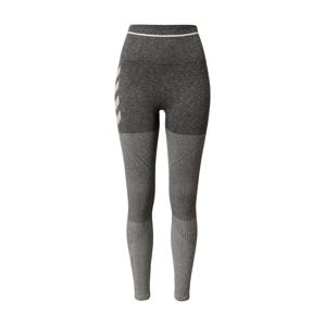 Hummel Sportovní kalhoty  světle šedá / tmavě šedá