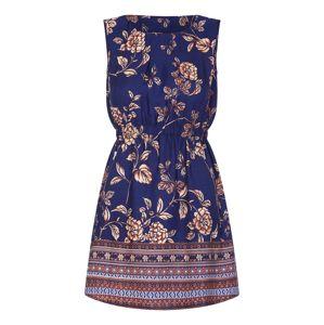 Mela London Šaty 'BORDER PRINT 2 ZIP DRESS'  námořnická modř / mix barev