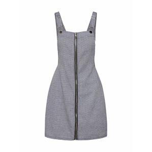 Missguided Laclová sukně 'DOGTOOH PINAFORE'  černá / bílá
