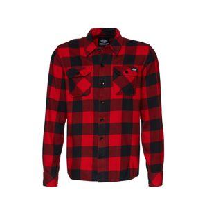 DICKIES Košile 'Sacramento'  červená / černá
