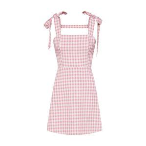 Fashion Union Letní šaty 'DAISY'  růžová / bílá