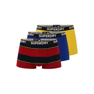 Superdry Boxerky  karmínově červené / modrá / žlutá