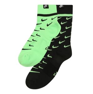 Nike Sportswear Ponožky  černá / svítivě zelená