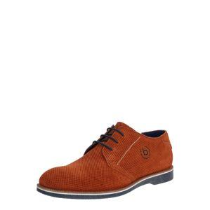 bugatti Šněrovací boty 'Melchiore'  oranžově červená