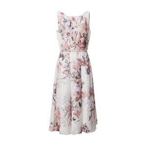 SWING Šaty  krémová / růže